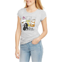 JUNIORS DISNEY BEAUTY AND THE BEAST SCOOP NECK TEE