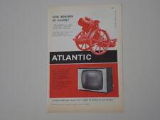 advertising Pubblicità 1960 TELEVISORE ATLANTIC 519