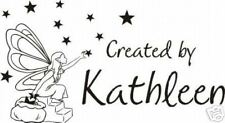 UNMOUNTED PERSONALIZED CREATED BY...FAIRY RUBBER STAMPS C103