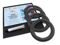 """ScanSpeak 6.5"""" Speaker Foam Surround Repair Kit 18W/8544 Woofer Cone Edge 4 Pack"""