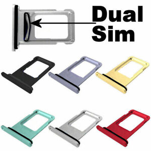 Single/Dual Sim Card Holder Slot Sim Card Tray Replacement For iPhone 11 Pro Max
