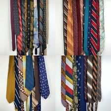LOT of 43 Vintage Necktie Tie Lot Skinny Colorful All Different Sizes Brands