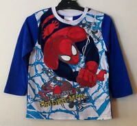NEW Boys Licensed Marvel Spiderman Long Sleeve Top - Size 7