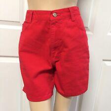 Gitano Women's Size 10 High Waisted Bermuda Denim Jean Shorts Bright Red