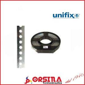 Bandella in metallo nastro forato per fissaggio tubi  17 mm e 12 mm x 10 metri
