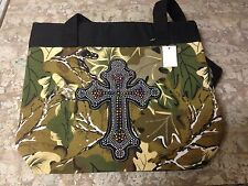 NEW  Apprx. 17x13 Camo Bling Cross Bag-Purse-tote