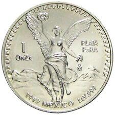 1 OZ ONZA PLATA PURA LIBERTAD 1992 ARGENTO SILVER ONCIA MEXICO MESSICO