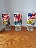 National Flag Foundation Glasses 1973-1975 Bicentennial set of 4