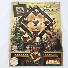 Debbie Mumm Christmas Baskets Quilt Project Book 1998 Soft Sculpture Home Decor