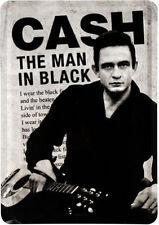 Retro Tin Metal Postcard 'JOHNNY CASH' Mini Sign 10 x 14cm 'Man in Black' Legend