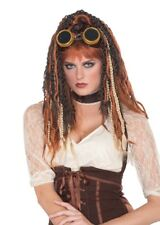 Steampunk Havoc Dreads Adult Women's Halloween Wig Sci-Fi Cosplay Fantasy Brown