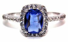 Sterling Silver Tanzanite And Diamond 3.6ct Ring (925) Size 7 (N)