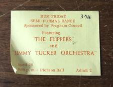 Vintage SemiFormal Dance Ticket Jimmy Tucker Orchestra Pierson Hall South Dakota