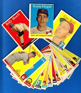 1958 Topps SERIES 1 LOT of NINETEEN (19) Different in EX/EX- LOW NUMBERS