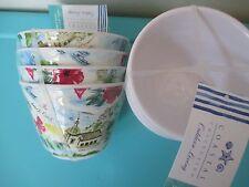 """New listing Coastal Collection Alamfi Coast Melamine 4"""" Appetizer Bowls Set Of 4 Italy Lemon"""
