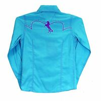Cowgirl Hardware Infant Toddler Turquoise/Purple Snap Up Show Shirt 825322-I2