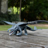 """HOW TO TRAIN YOUR DRAGON 2 TOYS 12"""" TOOTHLESS NIGHT FURY ACTION FIGURES"""