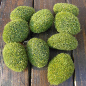 1 pcs Green Moss Stones GrassArtificial  Plant Poted Home Garden Decoration
