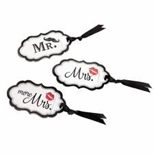 Luggage Tags Travel Suitcase Bag ID Mr Mrs More His Her Wedding Accessories Lips