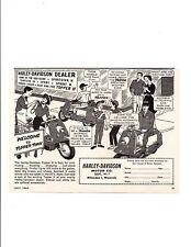 1962 HARLEY-DAVIDSON TOPPER ~ ORIGINAL SMALLER PRINT AD