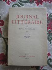 1957 Journal Littéraire Paul Léautaud Vol 4 Janv 1922-1924 Bibliophilie EO