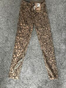 H&M Super Skinny Ankle High Waist Leapard Print Jeans Size 8 Brand New With Tags