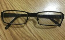 049828a472da JOSEPH ABBOUD JA4012 Jet Black Metal Frame Eyeglasses RX 52▫️20 140 EUC!