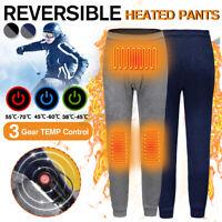USB Elettrico Riscaldato Uomini Pantaloni Inverno termica Riscaldamento Calzoni