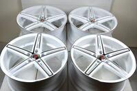 4 New DDR Talon 18x8 5x114.3 35mm White/Polished Wheels Rims