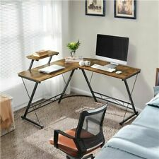 Topeakmart TMrqam00013 L-shaped Corner Computer Desk Writing Workstation PC Table Home Office- Brown