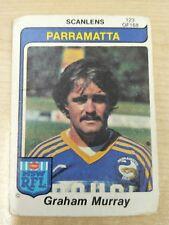 1980  PARRAMATTA EELS   SCANLENS RUGBY LEAGUE  CARD #123  GRAHAM  MURRAY