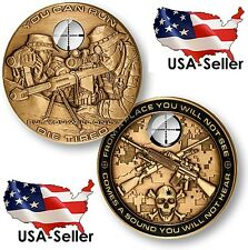 """Special Forces Sniper """"You Can Run, But You Will Only Die Tired"""" Challenge Coin"""