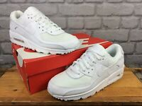 NIKE MENS AIR MAX 90 WHITE LEATHER MESH TRAINERS RRP £115 VARIOUS SIZES T 2020