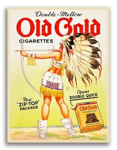 1939 Petty Girl Indian Maiden Classic Cigarette Advertising Poster - 18x24