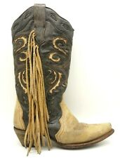 0122ddee7f8 Women's Fringed Corral Boots for sale | eBay