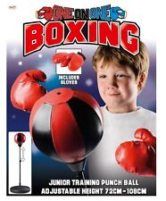 MADX Kids/Junior Boxing FREE STANDING Punch bag Set Freestanding Bag + Gloves