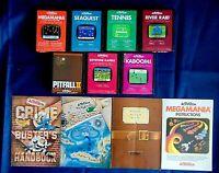 Atari 2600 Game Cartridge Lot Of 11 All Activision Pitfall 2 Keystone Kapers +