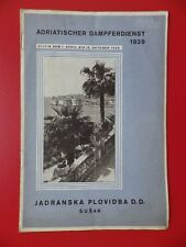 altes Reiseprospekt Adriatischer DAMPFERDIENST Adria Kroatien 1939 ( F 17205
