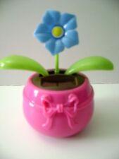 Solar Powered Dancing Blue Flower Flip Flap  Plant   Pot (Lavender)