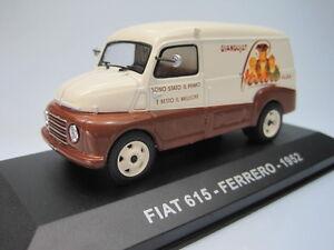 Veicoli Pubblicitari d'Epoca Fiat 615 Ferrero 1952 - IXO 1/43 cochesaescala