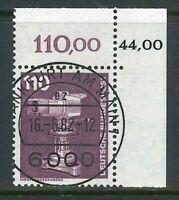 BRD Mi-Nr. 1134 KBWZ - Bogenecke zentrisch gestempelt Ersttag