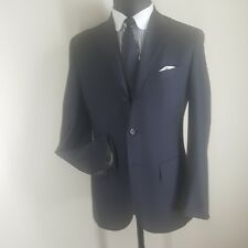 POLO RALPH LAUREN MADE IN ITALY GRAY PURE WOOL SUIT 3 BTN. PLEATED PANTS 38 REG