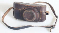 LEICA BROWN LEATHER RANGEFINDER CASE WITH 3/8TH SCREW AND STRAP