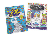 Day Trip and Color in Style Adult Coloring Book Designer Series Books Set of 2