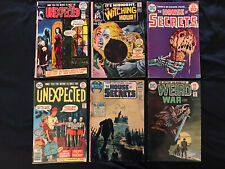 DC BRONZE HORROR lot of 6 comics: Witching Hour, House of Secrets, Unexpected..+