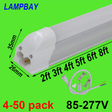 LED Tube Light 2ft 3ft 4ft 5ft 6ft 8ft Slim Bar Lamp T5 Integrated Bulb Fixtures