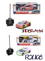 New Remote control Race Car Universal walk & light for Ages 3+ Police,Spider-man