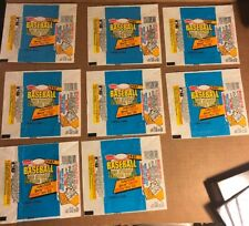 Fleer Baseball Wax Wrappers, 1987,  8 Total