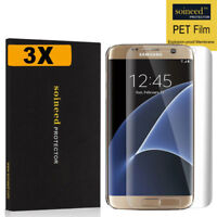 [3-Pack] SOINEED 3D Full Cover PET Screen Protector For Samsung [Galaxy S7 Edge]