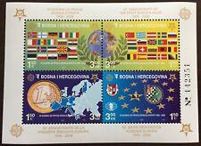 2005 BOSNIA HERZEGOVINA 50th Anniversary of the 1st Europa stamp Minisheet MNH